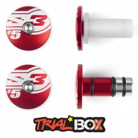 Embouts de Guidon S3 END5 Rouge Trial Box