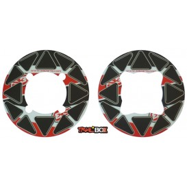 Autocollant de Couronne S3 Rouge 41-44 Dents Trial Box