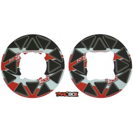 Autocollant de Couronne S3 Rouge 46-48 Dents Trial Box