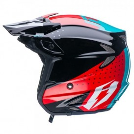 Casque JITSIE HT2 Data Rouge/Turquoise Trial Box