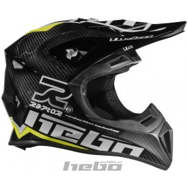 Casque HEBO Raptor Carbone Jaune Trial Box