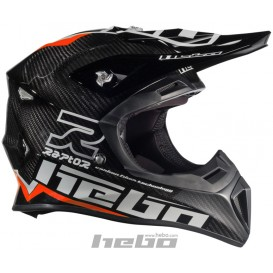 Casque HEBO Raptor Carbone Rouge Trial Box