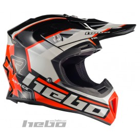 Casque HEBO Raptor Fibre Noir Trial Box