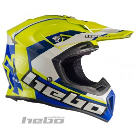 Casque HEBO Raptor Fibre Jaune Trial Box