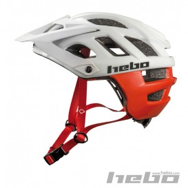 Casque HEBO Crank 1.0 Blanc/Rouge Trial Box