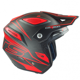 Casque MOTS Go2 Carbone Rouge Trial Box